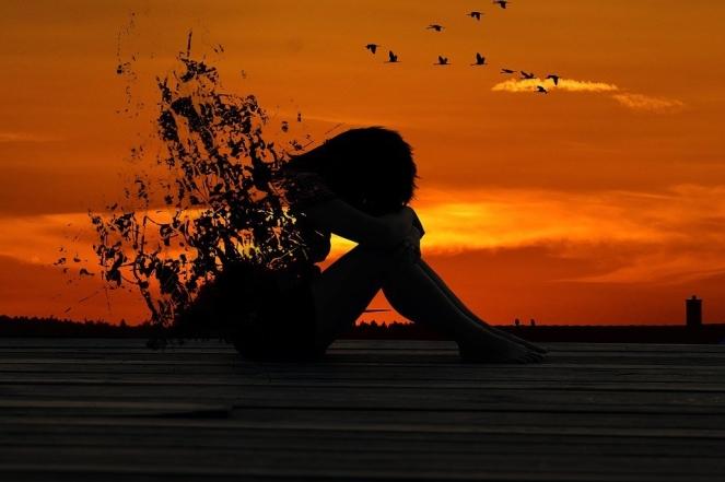 Silhouette Dawn Sunset Girl Evening Woman Dusk
