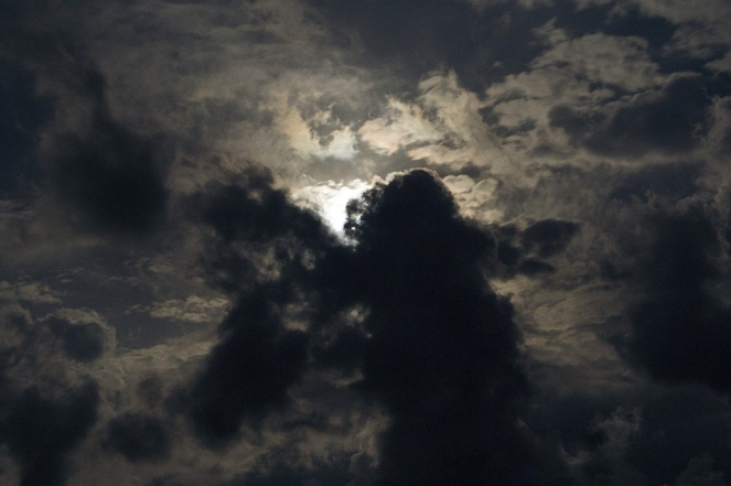 Sky Storm Nature Landscape Clouds Dark Moon