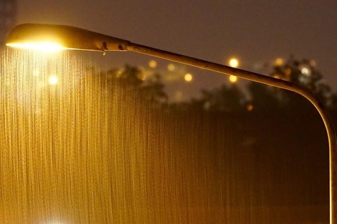Rain Night Light Road Lighting