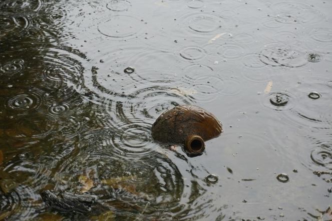 Wok Rain Kettle River Raindrops Flood