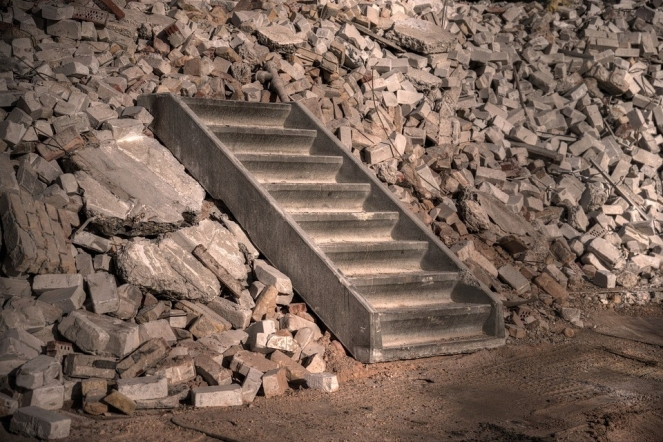 Staircase Stairs Construction Concrete Demolition