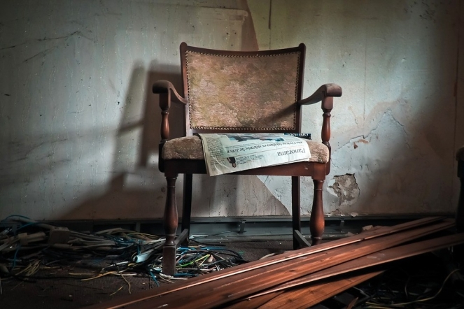 Lost Places Lapsed Old Chair Building Mold Moss